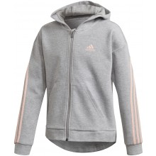 JUNIOR GIRLS' ADIDAS 3 STRIPES ZIPPED HOODIE