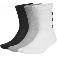 PACK OF 3 PAIRS OF ADIDAS CREW 3 STRIPES MID-HIGH SOCKS
