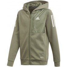 JUNIOR BOYS' ADIDAS ZIPPED HOODIE