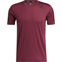 ADIDAS TECH-FIT 3 STRIPES FITTED T-SHIRT