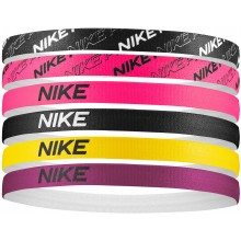 NIKE ELASTIC HEADBANDS - 6 PIECE ASSORTMENT