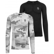 HYDROGEN PRINTED SECOND SKIN LONG-SLEEVE COMPRESSION T-SHIRT