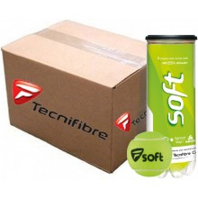 CASE OF 24 CANS OF 3 TECNIFIBRE SOFT BALLS