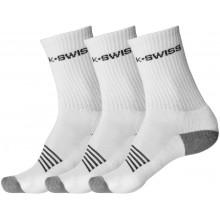 3 PAIRS OF K-SWISS CREW SOCKS