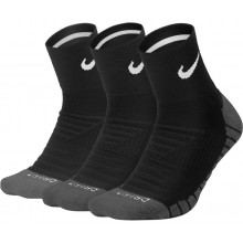 3 PAIRS OF NIKE DRY ION QUARTER SOCKS
