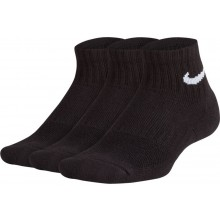 3 PAIRS OF JUNIOR NIKE PERFORMANCE QUARTER SOCKS