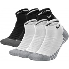 3 PAIRS OF NIKE MAX CUSHION INVISIBLE SOCKS
