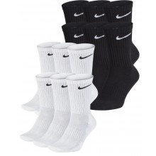 6 PAIRS OF NIKE CUSHION EVERYDAY MID-HEIGHT SOCKS