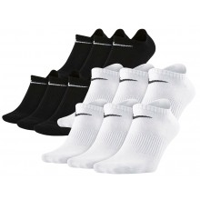 6 PAIRS OF NIKE NO SHOW LIGHTWEIGHT EVERYDAY EXTRA LOW SOCKS