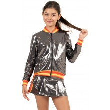 JUNIOR LUCKY IN LOVE METALLIC GROOVY STRIPE JACKET