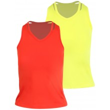 JUNIOR LUCKY IN LOVE V COLLAR CUTOUT TANK TOP