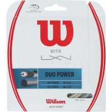 WILSON DUO POWER : LUXILON ALU POWER & WILSON NXT POWER 1.25 (12.20 METERS) HYBRID STRING PACK