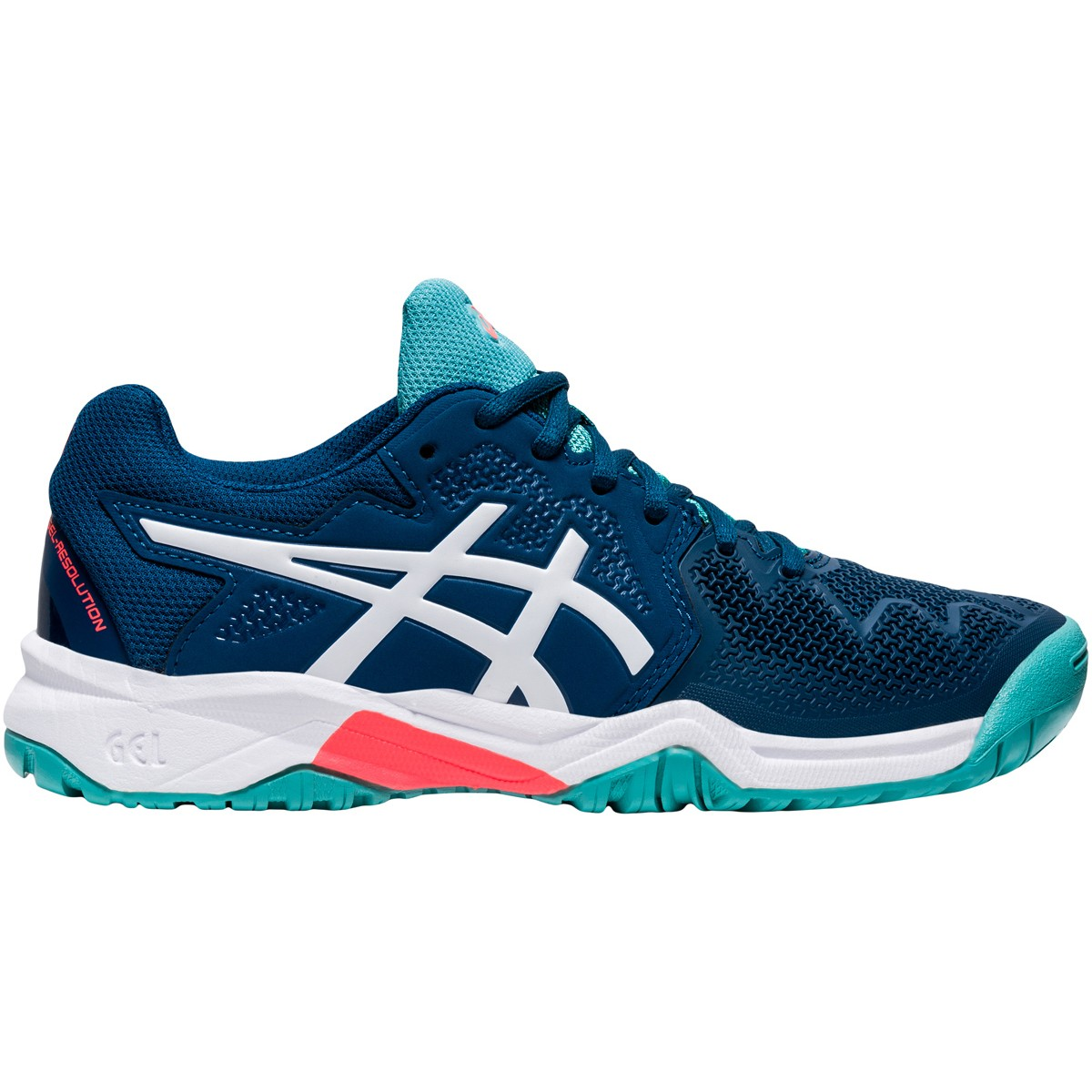 JUNIOR ASICS GEL RESOLUTION GS ALL COURT SHOES