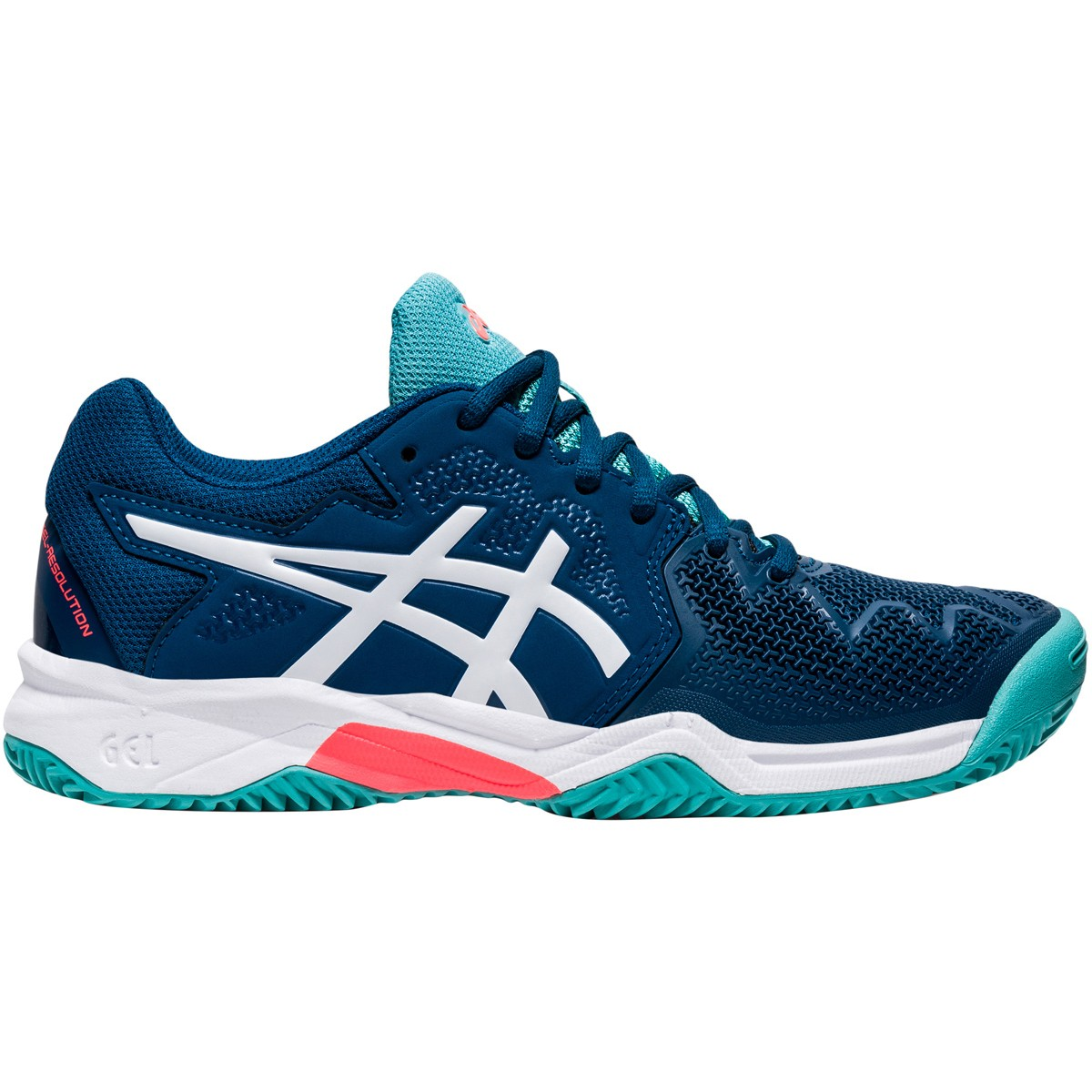 JUNIOR ASICS GEL RESOLUTION GS CLAY COURT SHOES