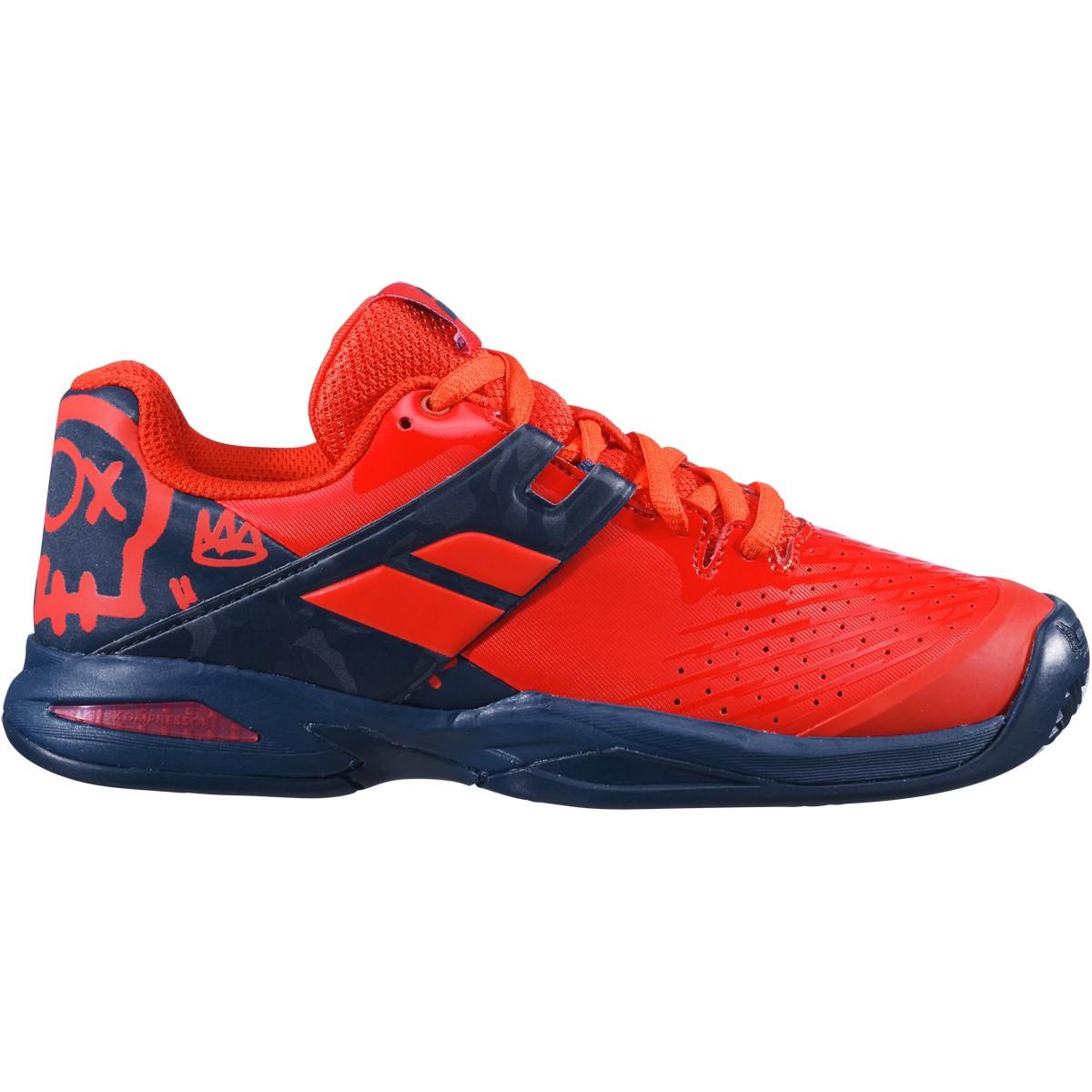 36 Babolat Chaussures de Tennis Junior Propulse All Court Bleu