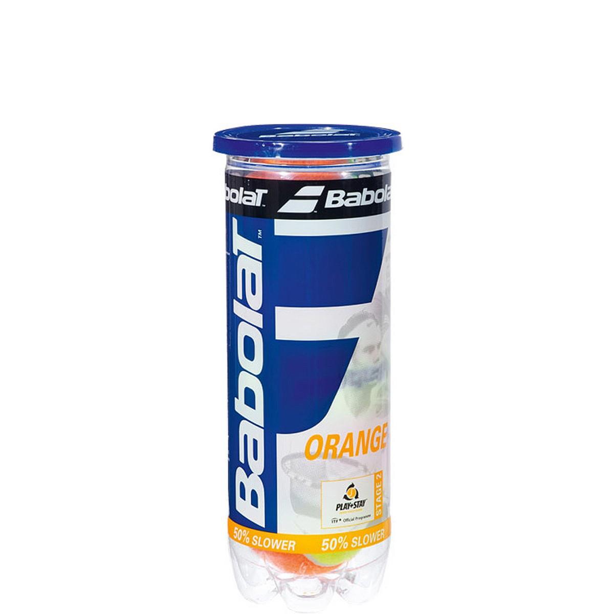 CAN OF 3 BABOLAT ORANGE TENNIS BALLS