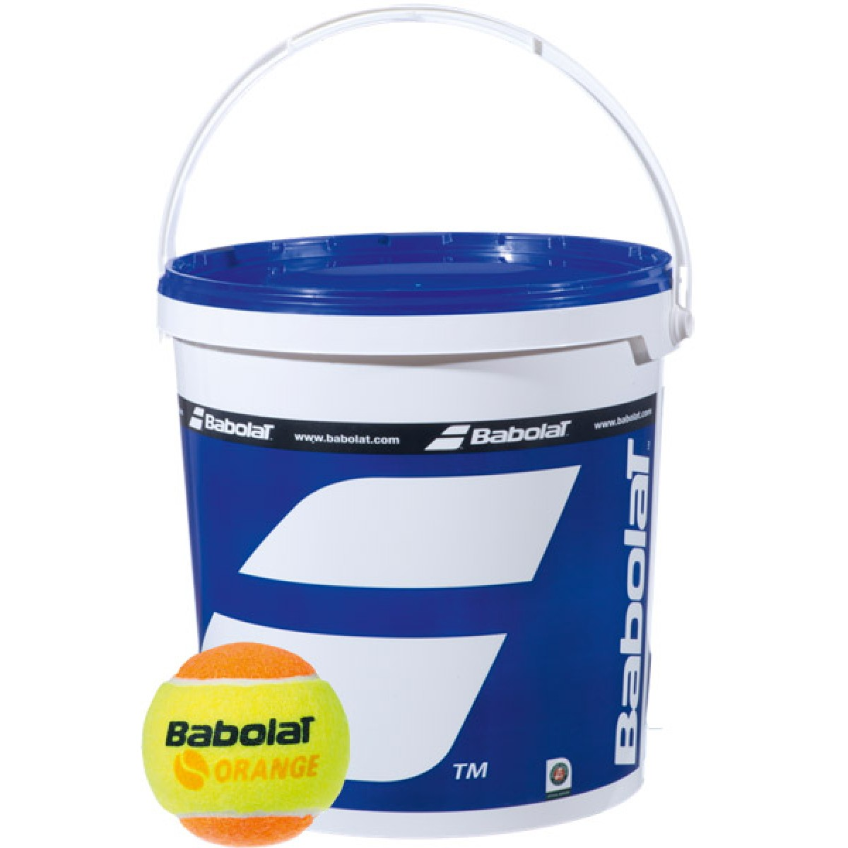 BUCKET OF 36 BABOLAT ORANGE TENNIS BALLS