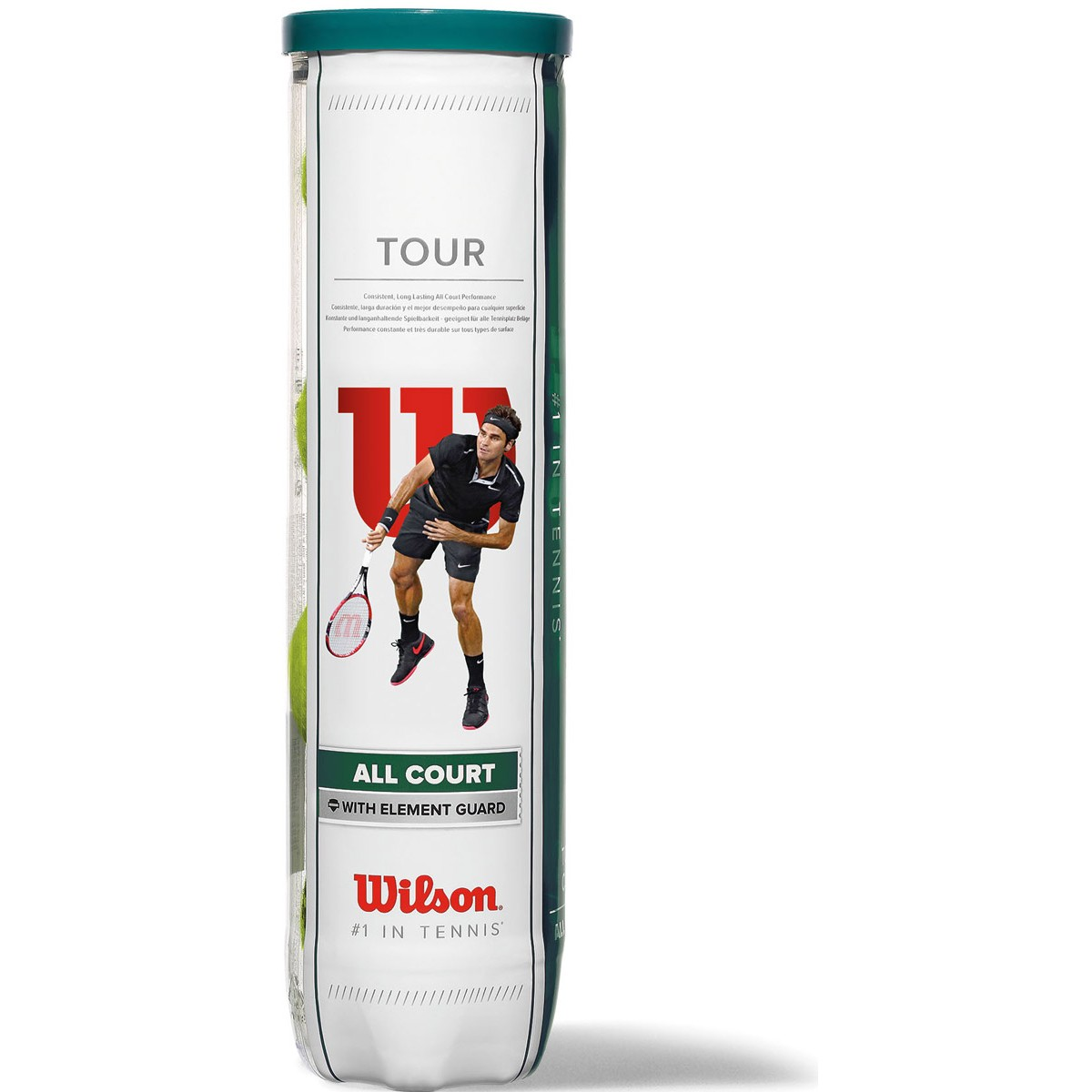 CAN OF 4 WILSON TOUR ALL COURT BALLS