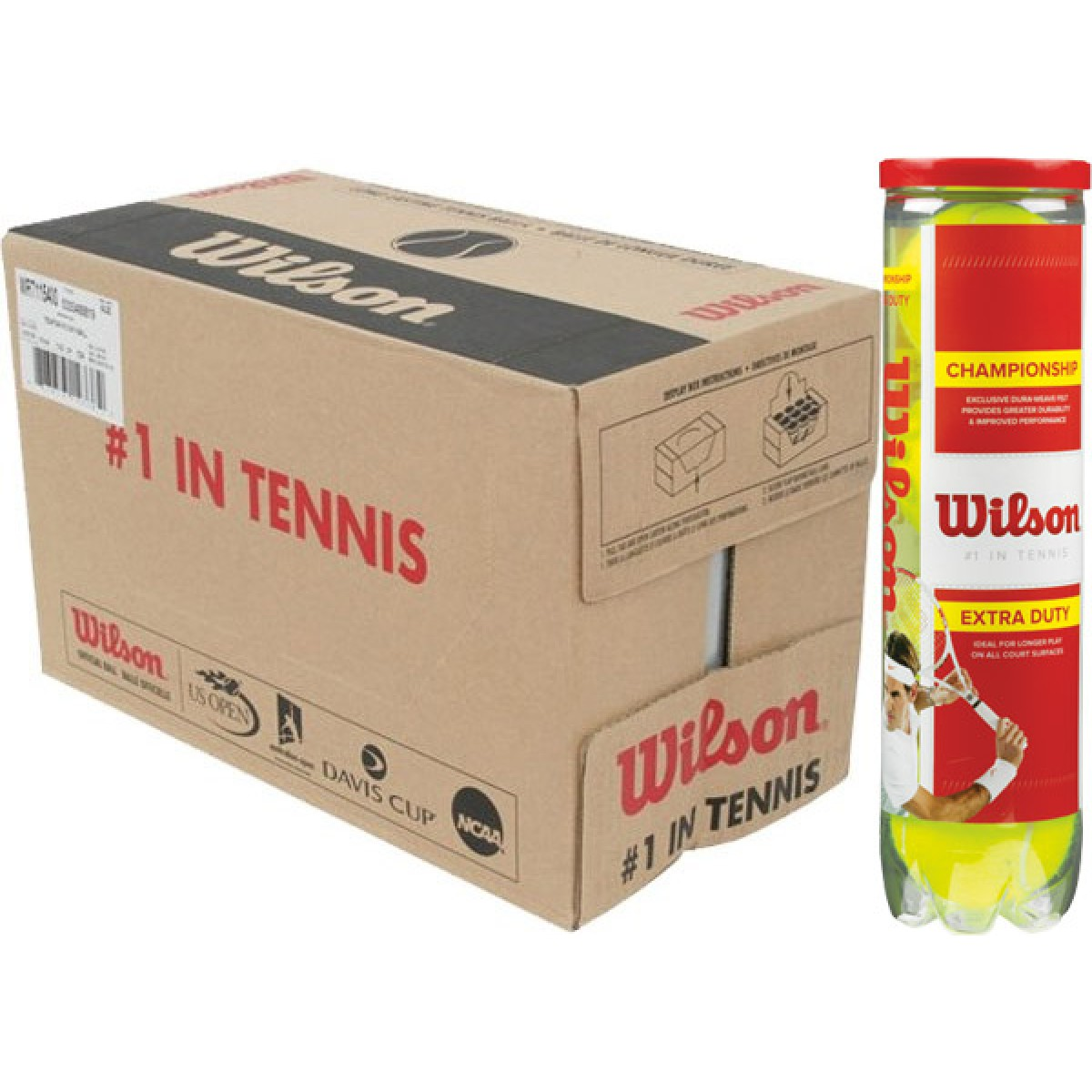 CASE OF 18 CANS OF 4 WILSON CHAMPIONSHIP BALLS