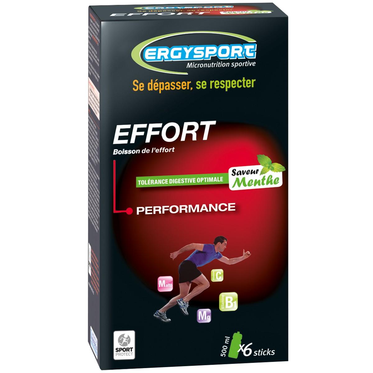 PACK OF SIX ERGYSPORT FOR EFFORT STICKS - MINT FLAVOUR