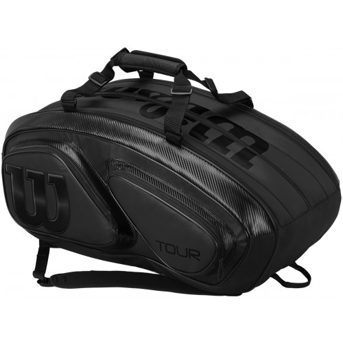 TOUR V 15 BLACK PACK TENNIS BAG (THERMO)