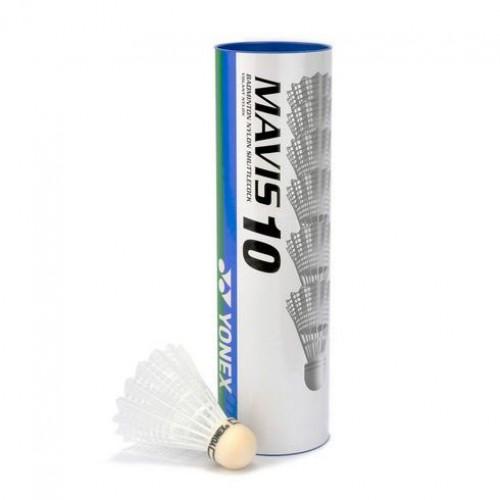 MAVIS 10 PLASTIC BADMINTON SHUTTLECOCKS